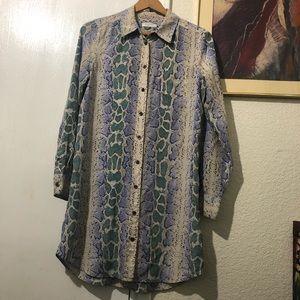 Equipment Femme Python print shirt dress